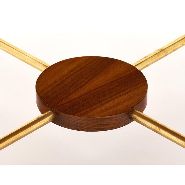 Gold Art Deco Period Figured Walnut Gueridon Table For Sale - Image 8 of 10