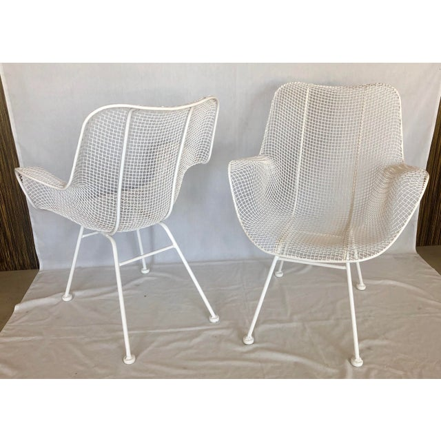 Mid-Century Modern 1960s Vintage White Sculptura Russell Woodard Patio Chairs- A Pair For Sale - Image 3 of 13