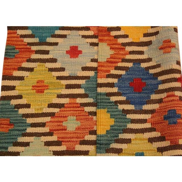 Textile Kilim Arya Liriene Ivory/Brown Wool Rug -2'6 X 4'2 For Sale - Image 7 of 8