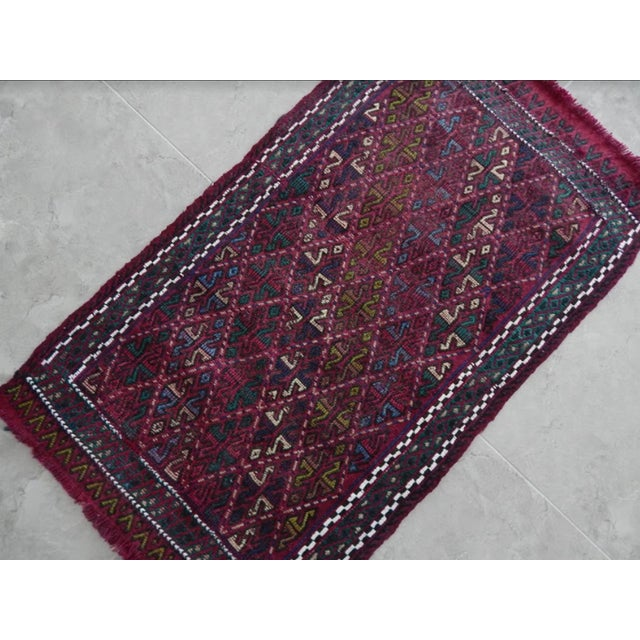Handwoven Turkish Kilim Rug Pastel Colors Area Rug Petite Braided Kilim For Sale - Image 4 of 8