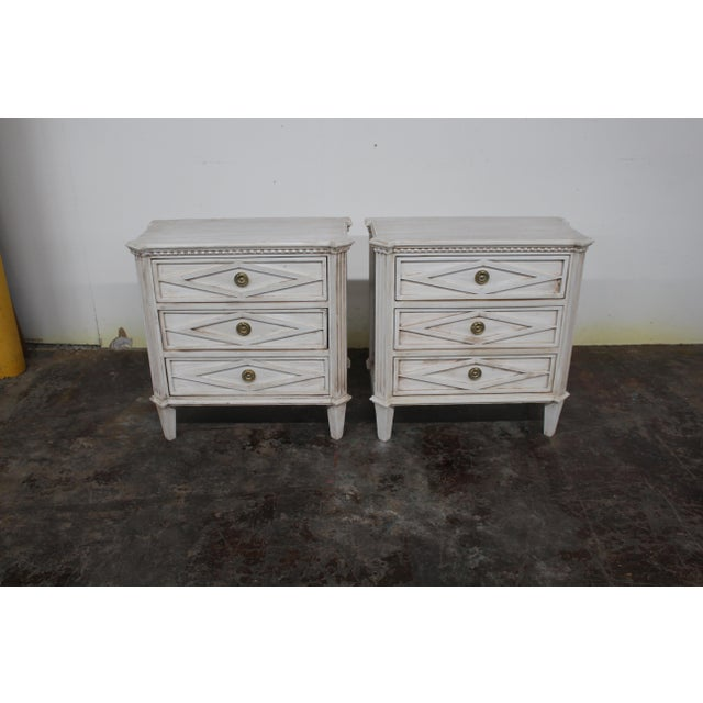 20th Century Vintage Swedish Gustavian Style Nightstands - a Pair For Sale - Image 10 of 10