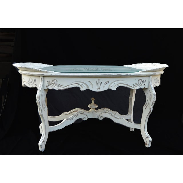 Vintage White Cottage Chic Coffee Table - Image 2 of 4