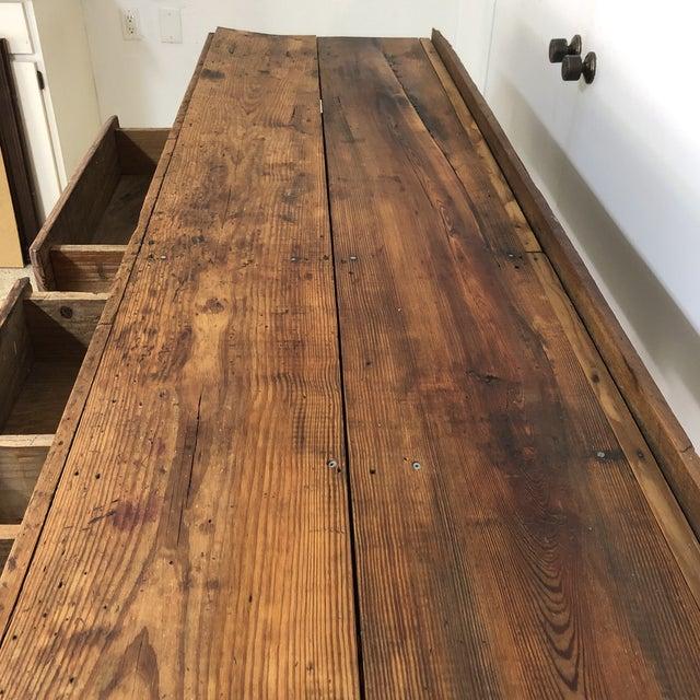 Large Vintage Primitive Workbench / Island For Sale - Image 9 of 13
