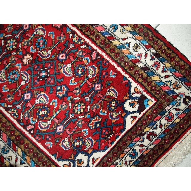 Traditional Vintage Persian Hamadan Runner- 2′7″ × 7′ For Sale - Image 3 of 10