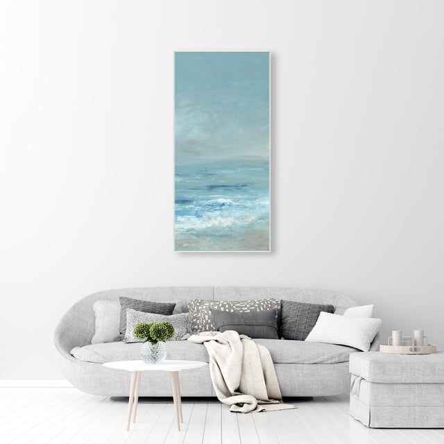A fabulous on trend, coastal scene gallery-wrapped giclee print on canvas by renowned designer & artist Barclay Butera. It...