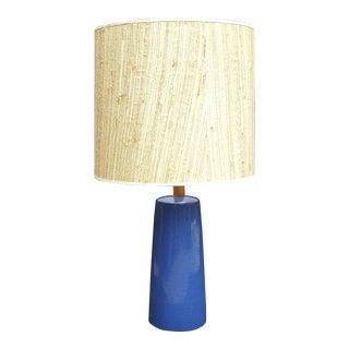 Gordon Martz Blue Pottery Table Lamp For Sale