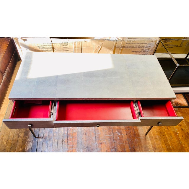 Metal Mitchell Gold + Bob Williams Solange Writing Desk For Sale - Image 7 of 9