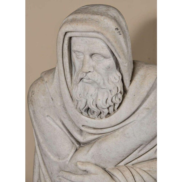 Mid 19th Century Italian Carrara Marble Statue For Sale - Image 5 of 9