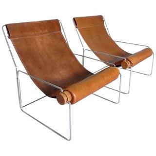 Rare Pair of Londra Chairs by Brian Kane for Studio Silvio Coppola, Italy, 1971
