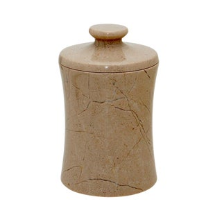 Tan Marble Canister For Sale