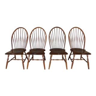 Habersham Set of 4 Hoop Back Windsor Style Side Chairs For Sale