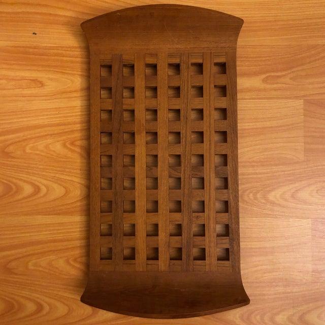 Dansk Jens Quistgaard Dansk Teak Lattice Trivet Tray For Sale - Image 4 of 4