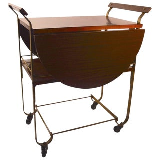 Treitel Gratz Drop-Leaf Serving Cart For Sale