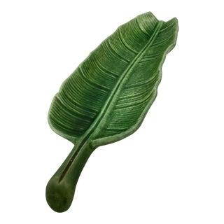Vintage Ceramic Palm Leaf Condiment Plate