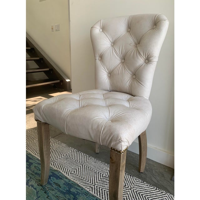 Industrial Timothy Oulton's Halo Chester Dining Chairs- A Pair For Sale - Image 3 of 12