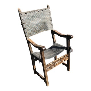 Early 18th Century Antique Spanish Baroque Armchair For Sale