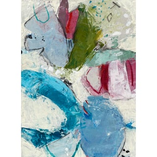 """""""Barefoot in the Park (Study)"""" Contemporary Abstract Mixed-Media Painting by Gina Cochran For Sale"""