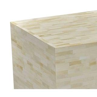 White Bone Brick Side Table Preview
