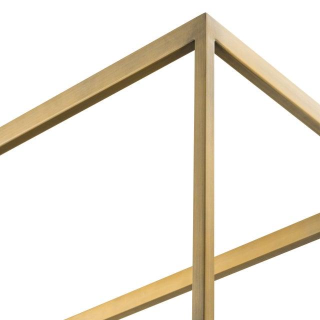 Industrial 5 Shelf Brass Cabinet | Eichholtz Omega For Sale - Image 3 of 5