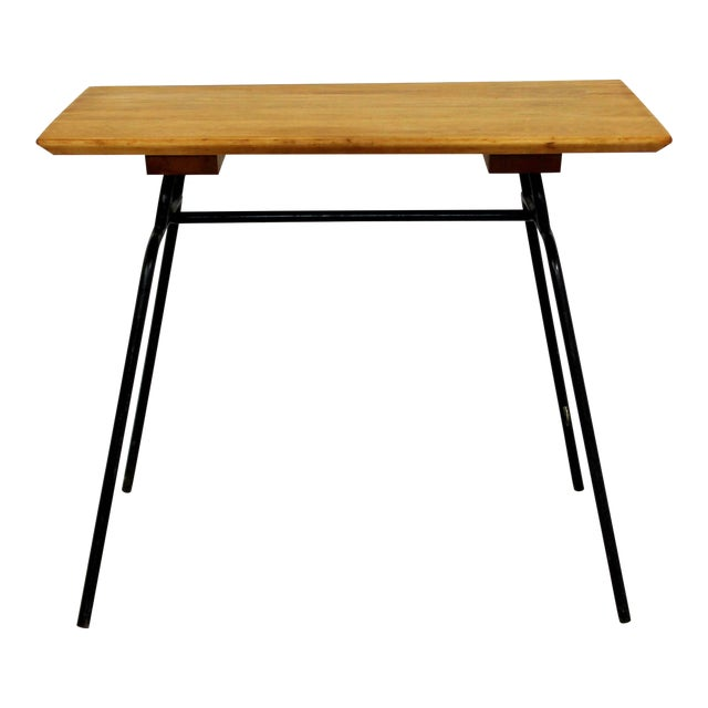 1950s Mid-Century Modern McCobb Planner Group Winchendon Maple & Iron End Table For Sale