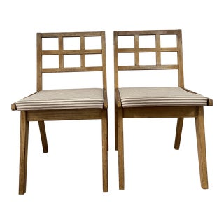 Mid Century Modern Side Chairs- A Pair For Sale