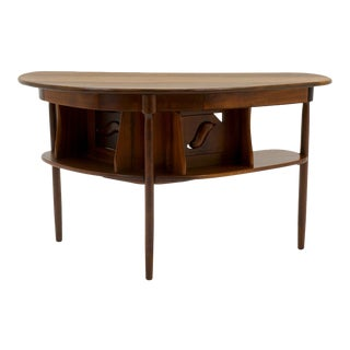 1960s Clarence Teed Handmade Black Walnut Small Desk For Sale