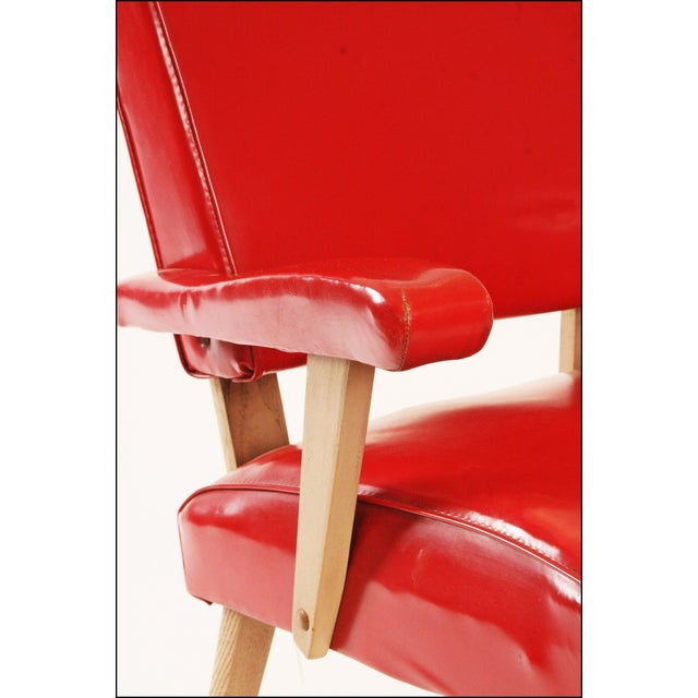Red Mid Century Modern Red Viking Artline Slipper Chair For Sale - Image 8 of 11