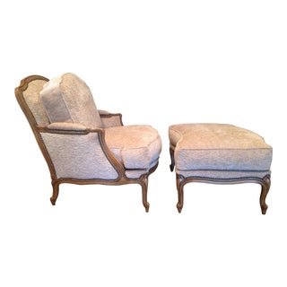 RJones Swiss Avenue Lounge Chair and Ottoman For Sale