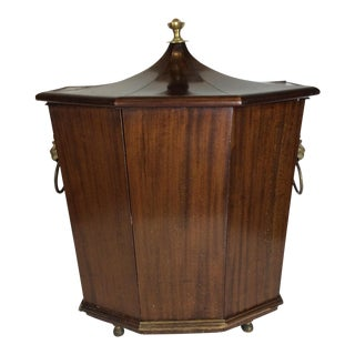 Antique 19th Century English Regency Mahogany Box For Sale