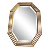 Image of 1980s Vintage Gilded Faux Bamboo Mirror For Sale