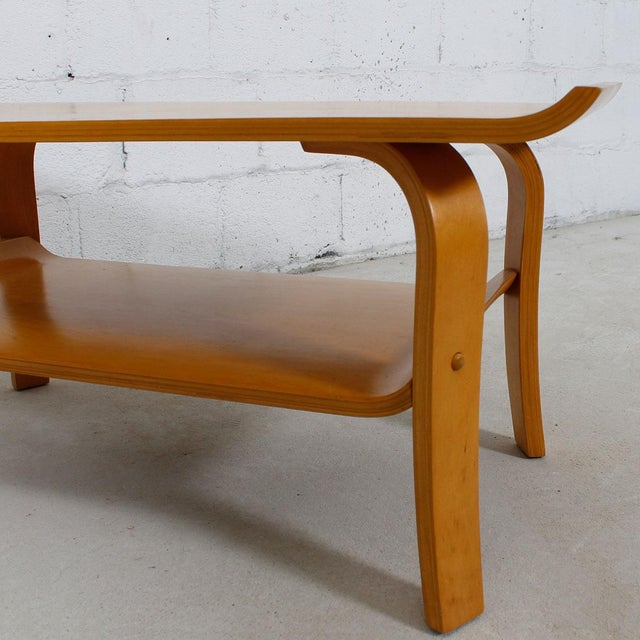 Mid Century Modern Bentwood Coffee Table In Birch With