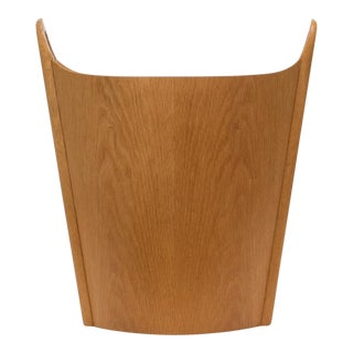 Oak Wastebasket by Einar Barnes for P. S. Heggen