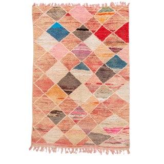 Vintage Boujad Moroccan Geometric Wool Rug