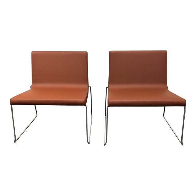 Andreu World Lineal Comfort Collection Side Chairs - A Pair - Image 1 of 7