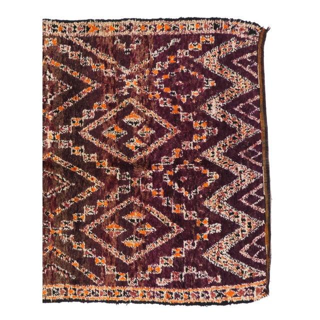 Textile Vintage Beni M'Guild Moroccan Rug - 06'07 X 11'07 For Sale - Image 7 of 8
