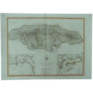 Jamaica Map by Jeffrys, 1794
