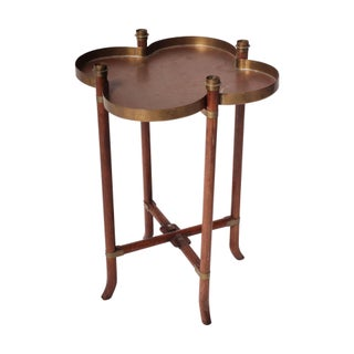 Brass Clover Side Table For Sale
