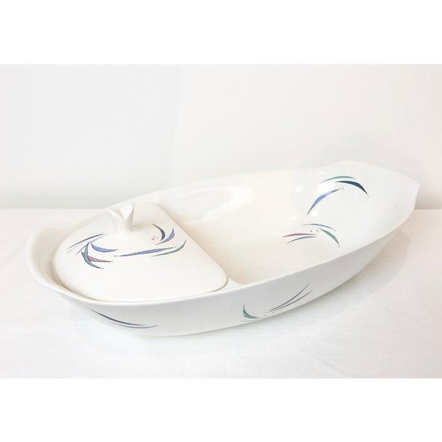 White Vintage 1950s Raymor Universal Sans Souci Ben Seibel Divided Lidded Spaghetti Bowl For Sale - Image 8 of 8