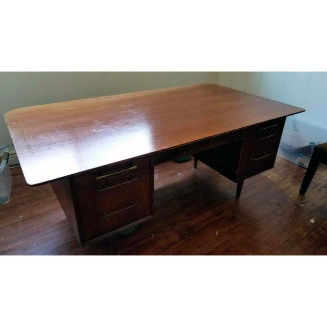 Mid Century Modern Executive Desk Chairish