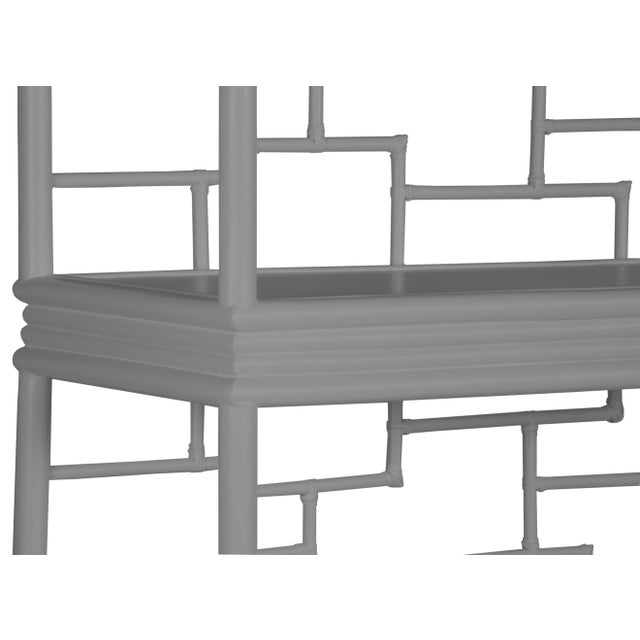 Tibet Etagere - Light Gray For Sale In West Palm - Image 6 of 7