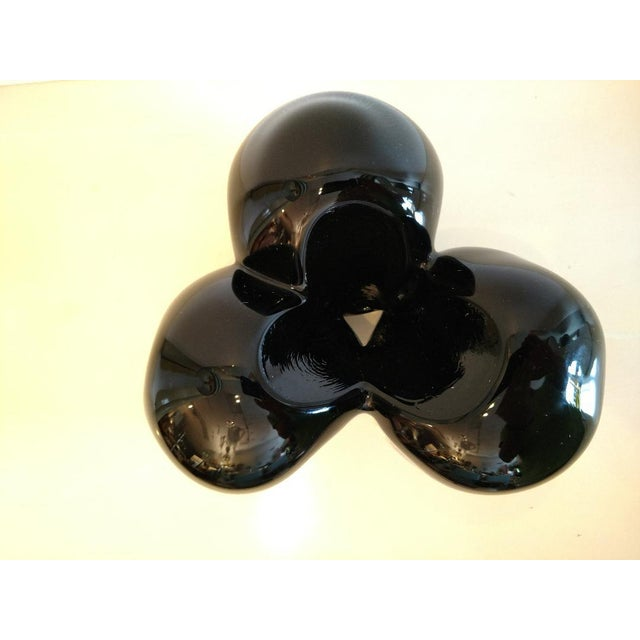 Pino Signoretto, Murano Black/Clear Art Glass Vase on Stand For Sale - Image 11 of 12