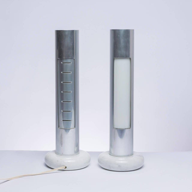 "Modern Rare Pair of ""Morgana"" Table Lamps by Enrico Panzieri for Sormani For Sale - Image 3 of 11"