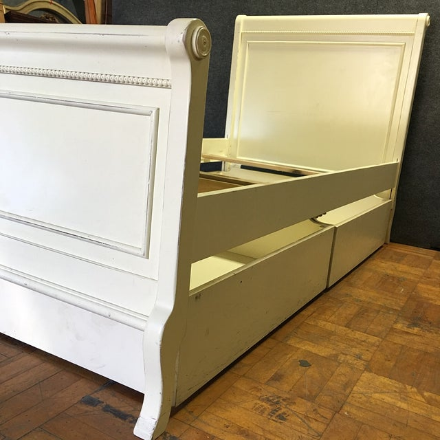 White Twin Bed with Drawers - Image 8 of 8