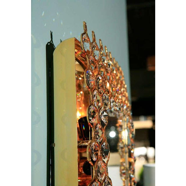 Mid 20th Century Lobmeyr Crystal & Gold Backlit Mirror For Sale - Image 5 of 9