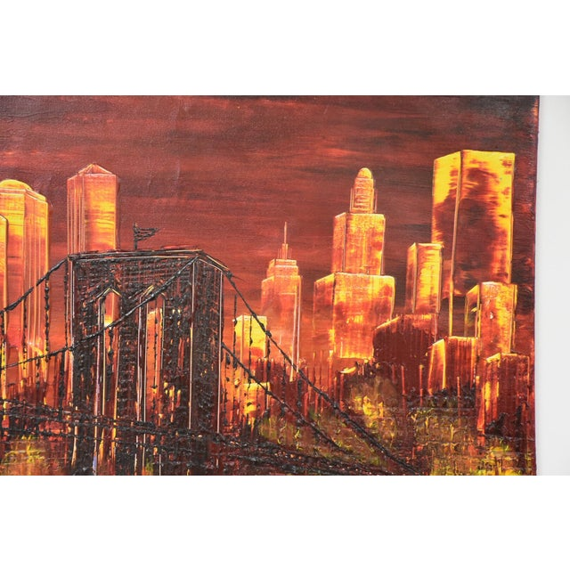 New York City Impressionist Oil Painting For Sale - Image 5 of 7