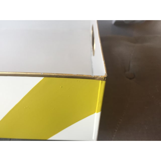 Metal Stray Dog Designs Striped Chelsea Tray For Sale - Image 7 of 8