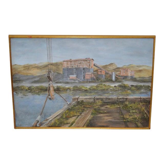 Hutchinson Co. Quarry Original Oil Painting c.1960 - Image 1 of 9