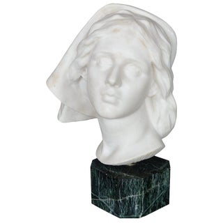 Late 19th Century Italian Marble Bust For Sale