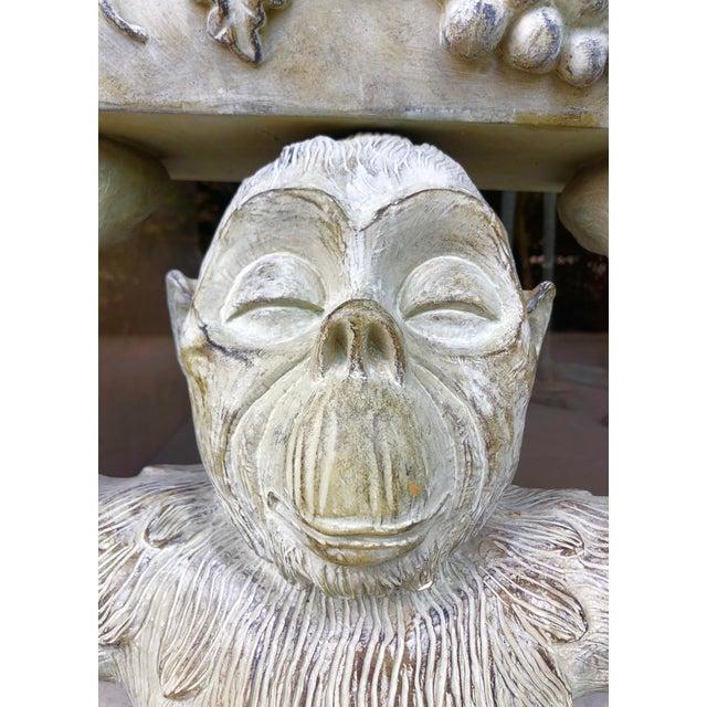 Figurative Large Bronze Finish Monkey Planter For Sale - Image 3 of 12