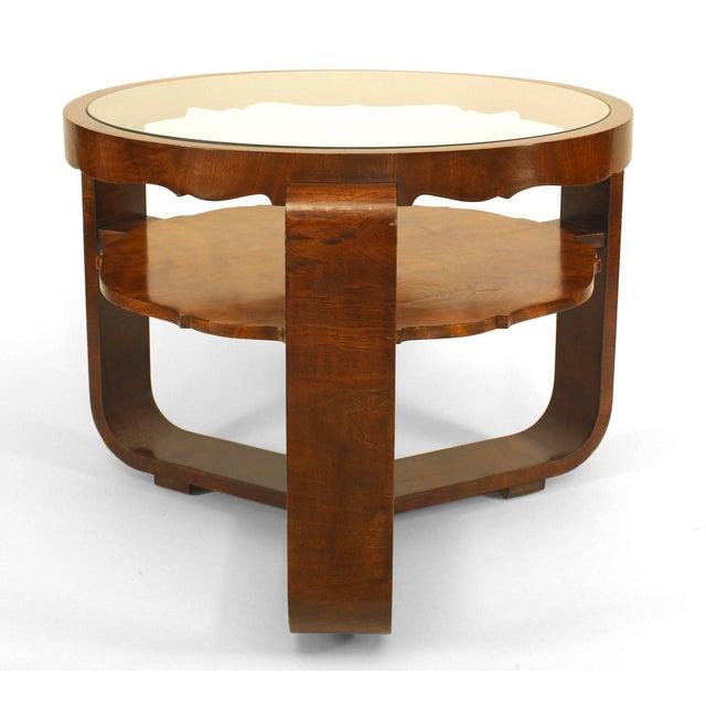 Italian Italian 1940s Burl Walnut Circular Coffee Table For Sale - Image 3 of 3